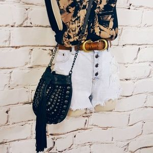Urban Outfitters Ecot'e Studded Tassel Bucket Bag